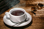 Sunglasses Photo Framed Prints - Coffee for the Voyageur Framed Print by Olivier Le Queinec