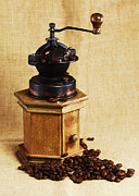 Old Grinders Posters - Coffee Grinder Poster by Falko Follert