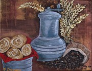 Rustic Mill Posters - Coffee Grinder Poster by Sharon Duguay