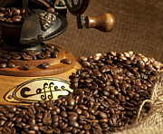 Coffee Grinder With Beans Print by Gunter Nezhoda