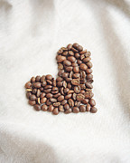 Kitchen Photos Posters - Coffee Heart Poster by Kim Lucian