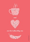 Coffee Love Quote Typographic Print Art Print by Lab No 4 - The Quotography Department