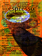 Piece Digital Art Prints - Coffee Lover 5D24472p8 Print by Wingsdomain Art and Photography