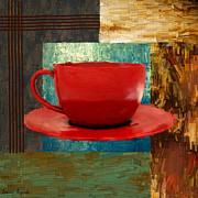 Red Cup Coffee Posters - Coffee Lover Poster by Lourry Legarde