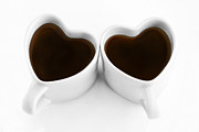 Coffee Drinking Metal Prints - Coffee Lovers Metal Print by Dan Holm