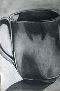 Coffee Mug Drawings Prints - Coffee Mug Print by Cecilia Stevens