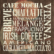 Text Words Posters - Coffee of the Day 1 Poster by Debbie DeWitt