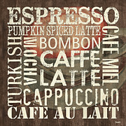 Text Words Posters - Coffee of the Day 2 Poster by Debbie DeWitt