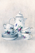 Tea Pot Framed Prints - Coffee Set Framed Print by Joana Kruse