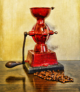 Country Kitchen Prints - Coffee The Morning Grind Print by Paul Ward