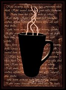 Night Cafe Digital Art Prints - Coffee Time Print by Barbara St Jean