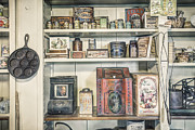Long Ago Framed Prints - Coffee Tobacco and Spice - On the shelves at a 19th Century General Store Framed Print by Gary Heller