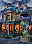 Soiree Metal Prints - Coffeehouse - Belle Soiree Au Cafe II Metal Print by Lee Dos Santos