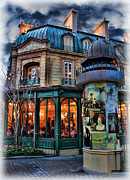 Soiree Metal Prints - Coffeehouse - Belle Soiree Au Cafe Metal Print by Lee Dos Santos