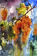 Ginette Fine Art LLC Ginette Callaway - Cognac Grapes Modern Abstract