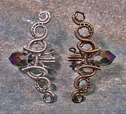 Jordan Jewelry - Coiled Coil Crystal Spike Ear Cuff by Heather Jordan