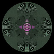 Op Art Digital Art Posters - Coils Poster by Visual Artist  Frank Bonilla