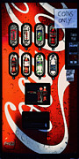 Coca-cola Signs Mixed Media - Coins Only by Sherry Dooley