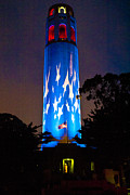 Coit Tower On The Anniversary Of 9/11 Print by Patricia Sanders