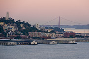Pioneer Homes Photos - Coit Tower Sits Prominently On Top Of Telegraph Hill In San Francisco by Scott Lenhart