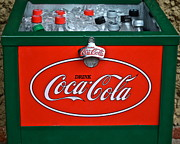 Soda Can Framed Prints - Coke Cooler Framed Print by Robert Harmon