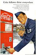 Fizzy Drink Posters - Coke Follows Thirst Everywhere Poster by Nomad Art And  Design