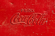 Coca-cola Framed Prints - Coke Sign Framed Print by Jill Reger