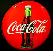 Bottle Cap Posters - Coke Top Poster by Terrie Heslop