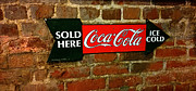 Cola Sold Here Print by Cheryl Young