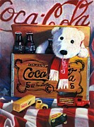 Jaxine Cummins Pastels Posters - Cola Toy Chest Poster by JAXINE Cummins