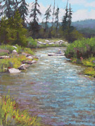 Oregon Pastels Prints - Cold and Clear Print by Sarah Blumenschein