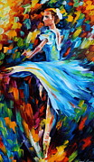 Ballet Painting Originals - Cold Ballet by Leonid Afremov