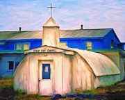 Old Church Posters - Cold Bay Chapel Poster by Michael Pickett