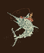 Fisherman Metal Prints - Cold Blooded Ocean Metal Print by Budi Satria Kwan