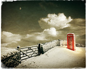 Snow-covered Landscape Digital Art Posters - Cold Call Poster by Edmund Nagele