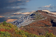 Scenic Woodlands Prints - Cold Day On The Blue Ridge Print by Skip Willits