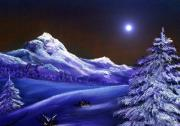 Landscape Paintings - Cold Night by Anastasiya Malakhova
