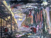 Bronx Paintings - Cold Rainy Night by Arthur Robins