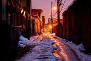 Cold Urban Alleyway Print by Denis Tangney Jr