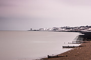 Shingle Beach Prints - Cold water still water Print by Ian Hufton