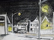 Night Lamp Pastels - Cold winters nite by Tim  Swagerle
