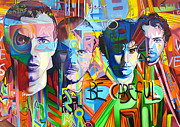 Colorful Tapestries Textiles Originals - Coldplay by Joshua Morton