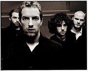 Pop Music Framed Prints - Coldplay Framed Print by Sanely Great