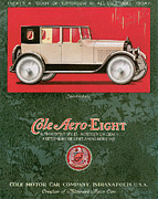 American Cars Drawings Posters - Cole Aero Eight Vintage Poster Poster by World Art Prints And Designs