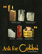 70s Drawings - Colibri  1970s Uk Lighters by The Advertising Archives