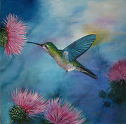 Colibri Paintings - Colibri by Pilar Puyana