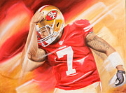 Colin Kaepernick Framed Prints - Colin Kaepernick Framed Print by Angela  Villegas