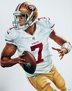 49ers Painting Prints - Colin Kaepernick Print by Dan Tearle