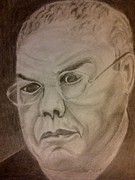 Leaders Drawings Prints - Colin Powell Print by Irving Starr