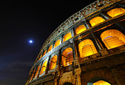 Rome Metal Prints - Coliseum Metal Print by Aaron S Bedell